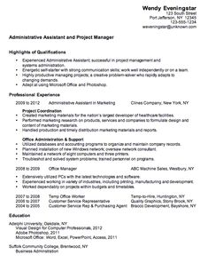 combination resume sample administrative assistant - Combination Resume Examples