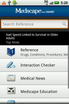 medscape android contents
