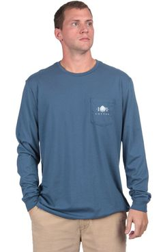 Field Companion Long Sleeve - Navy Front