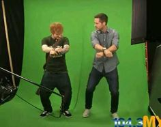 ED SHEERAN IS DOING GANGNAM STYLE AND I'VE OFFICIALLY STOPPED BREATHING