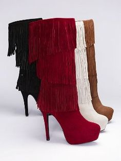 543aab86a3 The Mojo Moxy® Burlesque Fringe Boot from Victoria s Secret