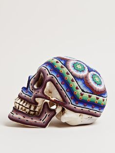 OUR EXQUISITE CORPSE LARGE BEADED COLOURED SKULLS