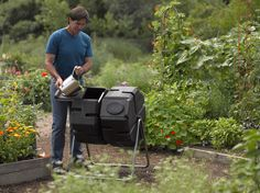 Dual-Batch Compost Tumbler | Fast Compost - Turns with Ease