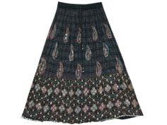 Black Skirt, Bohemian Fashion Skirts Floral Sequin Beaded Womens Gypsy Skirt mogulinterior,http://www.amazon.com/dp/B00ESZCOBQ/ref=cm_sw_r_pi_dp_UxKhsb0314E63RSQ