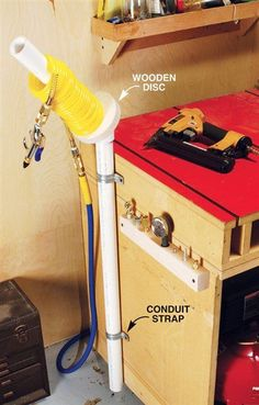 AW Extra 5/31/12 - Air Hose Rack - Popular Woodworking Magazine