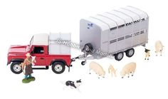 BRITAINS FARM Land Rover Defender 90 + Ifor Williams Livestock Trailer Sheep Set #Britains #LandRover Defender 90, Land Rover Defender, Wrangler Shirts, Scale Models, Diecast, Toddler Bed, Toys, Sweet, Accessories