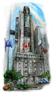 It's Cancer Control Month!  Princess Margaret Hospital, Toronto by Canadian Illustrator Artist Dav – David Crighton Art