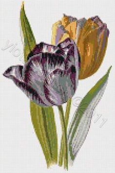 Tulips cross stitch kit or pattern | Yiotas XStitch
