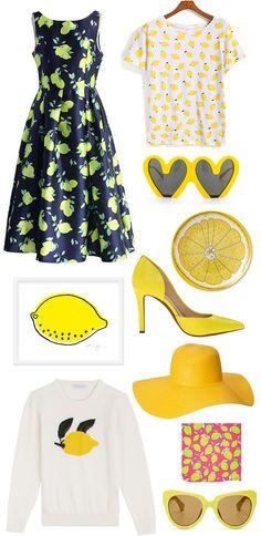 Lemon Print Dress, Lighten Skin, Shades Of Yellow, Colorful Fashion, Printing On Fabric, Girly, Style Inspiration, Summer Dresses