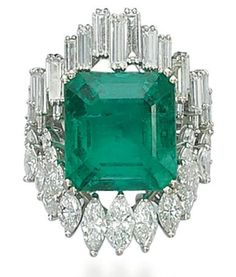 Colombian emerald and diamond ring. Christie's. ~ Repinned by Federal Financial Group LLC #FederalFinancialGroupLLC http:ffg2.com reviews complaints