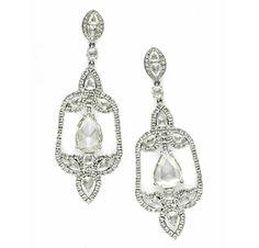 A Pair of Rose-cut Diamond Ear Pendants, by Carnet. Via FD Gallery, www.fd-inspired.com