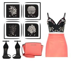 """""""Spring Beauty: Corals"""" by hopexx26 ❤ liked on Polyvore featuring beauty, River Island, Michael Kors, Eichholtz, Yves Saint Laurent and Glamorous"""