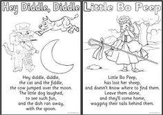 Nursery rhyme free printable  colouring sheets, with a farm theme. Includes Baa, baa, black sheep, Cocks Crow, Hey Diddle, Diddle, Little Bo Peep, Little Boy Blue, Mary had a Little Lamb, This Little Piggy, To Market and Three Blind Mice.
