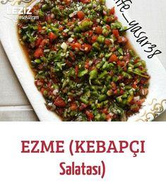 Mash (Kebab Salat) - Salata Tarifleri - - My list of the most beautiful animals Easy Pasta Dinner Recipes, Pasta Recipes, Easy Meals, Cooking Recipes, Appetizer Salads, Dinner Salads, Turkish Recipes, Easy Salads, Healthy Salad Recipes