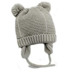 e07310afb8c84 Baby Beanie Earflaps Hat - Infant Toddler Girls Boys Soft Warm Knit Hat  Kids Winter Hat