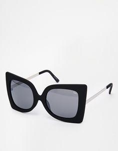 Quay Phebe Square Sunglasses - Black