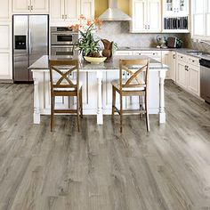 Allure Locking Wide Smoked Oak Silver 8.7 Inch. x 47.6 Inch. Resilient Vinyl Plank Flooring (20.06 sq. ft. / case) | The Home Depot Canada