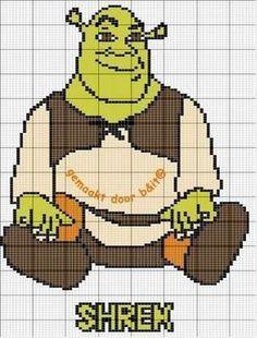 Shrek hama perler beads pattern