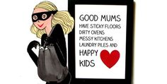 Pour toutes les mamans pas parfaites Single Mum, Little Paris, Illustrations, Happy Kids, Baby Love, Phrases, Cartoon, Children, Projects