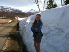 Leftover snow in Northern Norway in May.
