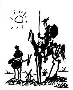 Picasso Art :: Don Quixote and Sancho Panza