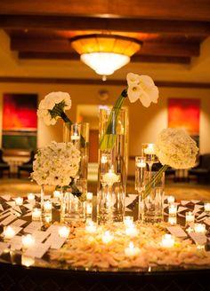 Black & White Escort Card Table // Mi Belle Photographers // http://blog.theknot.com/2013/09/25/a-desert-chic-wedding-from-mi-belle-photographers/
