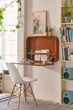 A very cool wall desk! Perfect for small spaces! (Cool Furniture Dream Rooms)