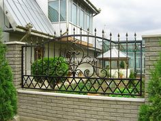 9 Passionate Simple Ideas: Sliding Fence Gate dog fence on concrete.Dog Fence On Concrete fence design how to make.Decorative Fence How To Make. Metal Garden Fencing, Decorative Garden Fencing, Bamboo Fencing, Fence Garden, Decorative Metal, Front Yard Fence, Dog Fence, Farm Fence, Brick Fence
