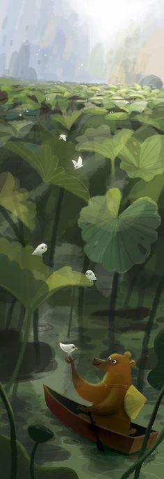 Bear and Water Lilies (2008) by Joey Chou