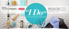 "Score free kitchen essentials by entering the Amazon Wedding Registry + OXO ""I Do"" #Sweepstakes - #wedding #bridal #bride #giveaway #free"