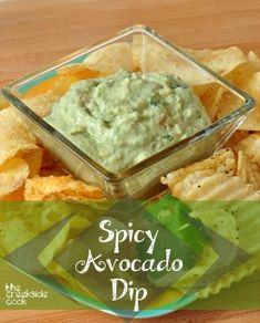 Creamy and rich, Spicy Avocado Dip is what you need for your next party! | The Creekside Cook