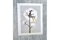 Early Bird by Nicci Martin Illustration Early Bird, Walls, Birds, Frame, Illustration, Decor, Dekoration, Decoration, Wands