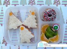 Christmas tree sandwiches in our Easy Lunchbox