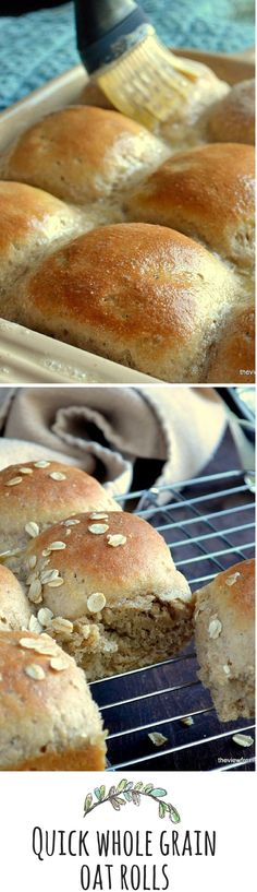 Fluffy whole grain yeast rolls in about an hour!