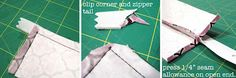 How to Sew a Zipper Opening in Your Purse or Handbag - A Tutorial - Emmaline Bags: Sewing Patterns and Purse Supplies