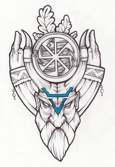 Славянские тату Slavic Tattoo, Norse Tattoo, Celtic Tattoos, Viking Tattoos, Viking Art, Viking Symbols, Viking Warrior, Viking Woman, Tattoo Sketches