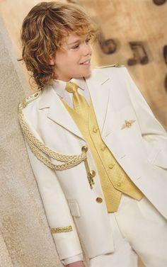 Traje Primera #Comunion de niño. Modelo marinero en blanco #ElCorteIngles