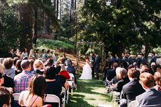 Even though Mother Nature tested my emotions you could never tell by this photo that the day before the lawn & trees were covered in snow Wedding In The Woods, Our Wedding, My Emotions, Mother Nature, Lawn, Dolores Park, Trees, Snow, Photography
