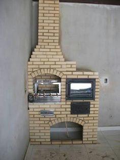 Barbecue, Oven Design, Casa Real, Outdoor Cooking, Backyard, Shower, House, Home Decor, Masonry Bbq