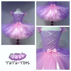 Shorter=easier=less tulle required Rapunzel tutu dress from tutu tots: Tulle Projects, Tulle Crafts, Princess Tutu Dresses, Baby Tutu Dresses, Rapunzel, Tulle Tutu, Tulle Dress, Disney Tutu, Crochet Tutu