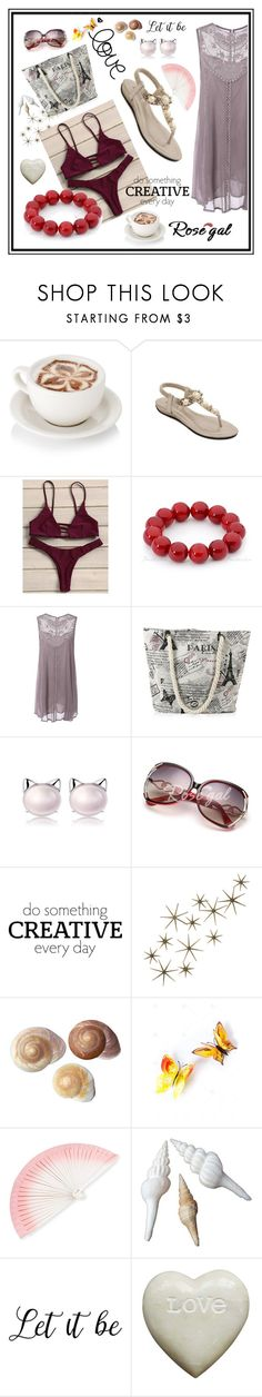 """""""Strappy Tanga Bikini Set"""" by edin-levic ❤ liked on Polyvore featuring WALL, Global Views and FernFans"""