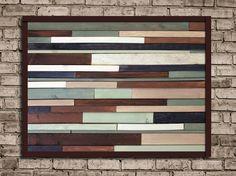 Modern Reclaimed Wood Art Wall Sculpture in by JaclynMillerDesigns, $175.00