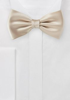 Golden Champagne Colored Bow Tie