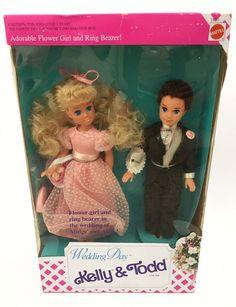Barbie Wedding Day KELLY & TODD Gift Set 2820 Vtg 1990s Flower Girl Ring Bearer 74299028205 | eBay