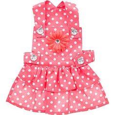 Petco Smoochie Pooch Coral Fifi Dot Dog Dress, X-Small - http://www.thepuppy.org/petco-smoochie-pooch-coral-fifi-dot-dog-dress-x-small/