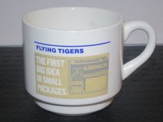 Flying Tigers Cargo Airline Coffee mug, rare
