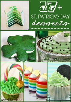 This started with Frozen Grasshopper Squares but there are lots of yummy ideas here for St Paddy's Day!