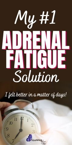 Here's the number one Adrenal Fatigue Remedy that I've found. I struggled with feeling tired all the time. I had such low energy that I couldn't function normally. I could barely get out of bed in the mornings, yet I wasn't sleeping well. If you want to sleep better, have better energy, cure your fatigue and be healthier and happier as a result, try what worked for me! #adrenalfatigue #lowenergy #tired #nourishingtime #naturalremedy #womenshealth