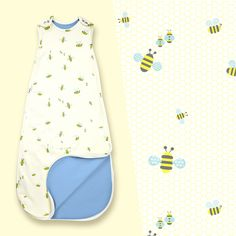 Merino & Organic Cotton Baby Sleeping Bag - 4 Season - Bumble   Superlove Merino