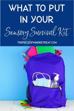 What should you put in your sensory survival kit to make your next trip as smooth as possible? Find out here. #AutismTravel #Sensory Survival Kit #ThePieceOfMindRetreat Parenting Done Right, Parenting Teens, Good Parenting, Children With Autism, Survival Kit, Sensory Activities, Activities For Kids, Sensory Integration Therapy